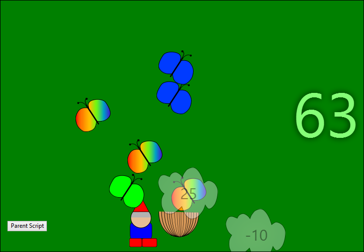 Screen capture of the game