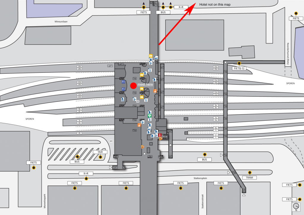 Map of Utrecht Central Station